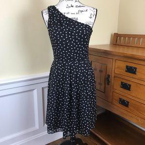 White House Black Market One Shoulder Midi Dress